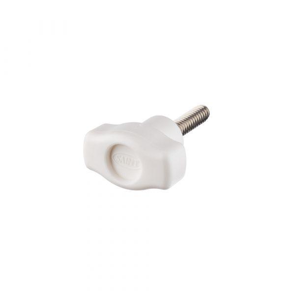 Thumb Screw - 2 eared Nylon White