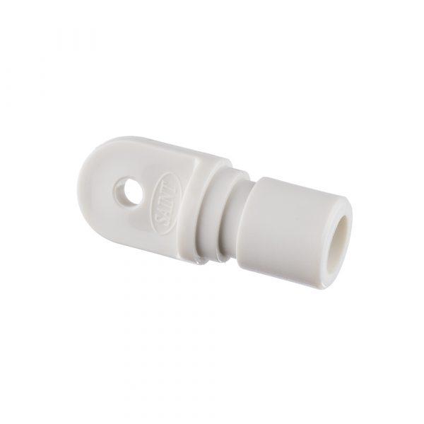 Bow End 25x1.6mm Nylon White