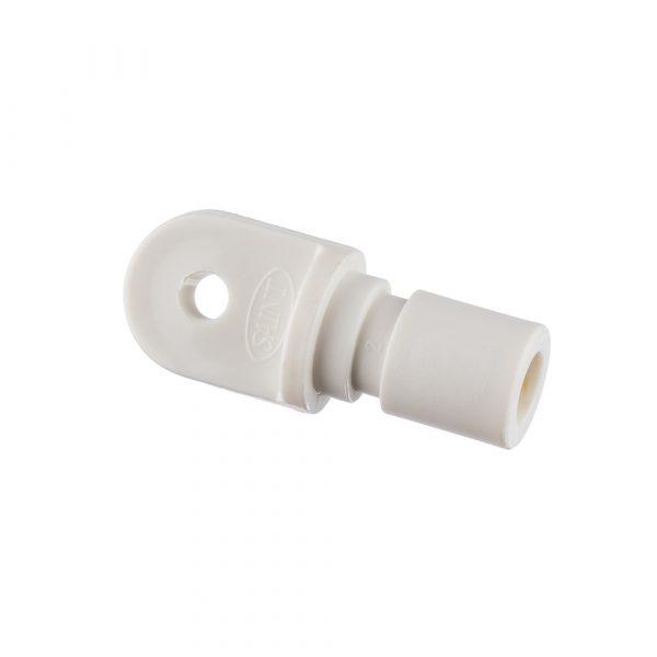 Bow End 25x3mm Nylon White